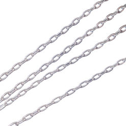 Sterling Silver 1.3mm Long Cable Chain
