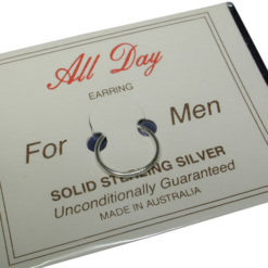 Sterling Silver 1x12mm Allday Mens Small Plain Sleeper