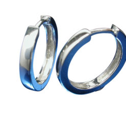 Sterling Silver 2.5x16mm Huggie Earrings