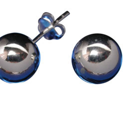 Sterling Silver 9mm Ball Stud Earrings