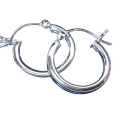 Sterling Silver 2mmx16mm Square Profile Hoop Earrings