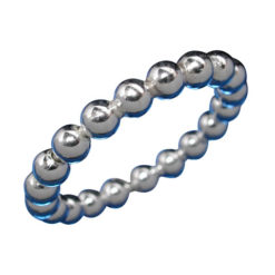 Sterling Silver 3mm Ball Ring-