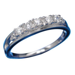 Sterling Silver 3.5mm White Cubic Zirconia Ring