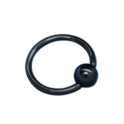 Surgical Black Steel Ball Closure Ring 1.2 X 10 X 4