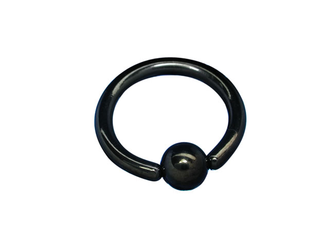 Surgical Black Steel Ball Closure Ring 1.6 X 10 X 4