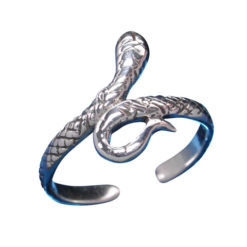 Sterling Silver 11.5mm Snake Toe Ring