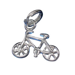 Sterling Silver 9x13mm Bicycle Charm With Split Ring