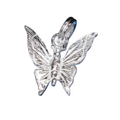 Sterling Silver 13x10mm Butterfly Charm With Split Ring