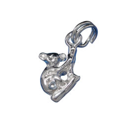 Sterling Silver 11x10mm Koala Charm With Split Ring