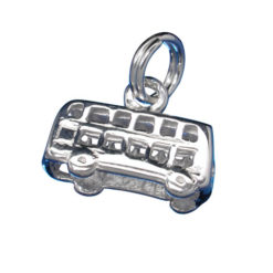 Sterling Silver 7x13mm Bus Charm With Split Ring