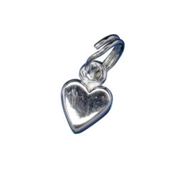 Sterling Silver 6mm Heart Charm With Split Ring