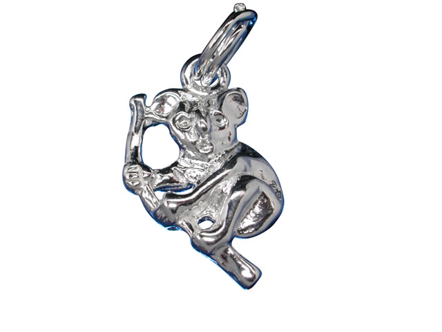Sterling Silver 15x11mm Koala On Tree Branch Charm With Split Ring