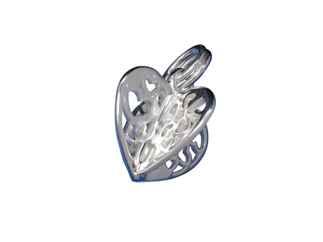 sterling silver 10mm filigree charm with split ring