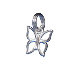 Sterling Silver 10x8mm Butterfly Charm With Split Ring