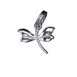 Sterling Silver 9x12mm Dragonfly Charm With Split Ring