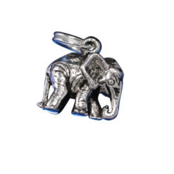 Sterling Silver 8x11mm Elephant Charm With Split Ring