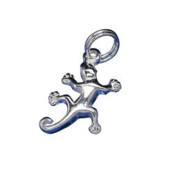 Sterling Silver 13x10mm Gecko Charm With Split Ring