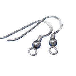 Sterling Silver Open Ear Wire & Coil (pair)