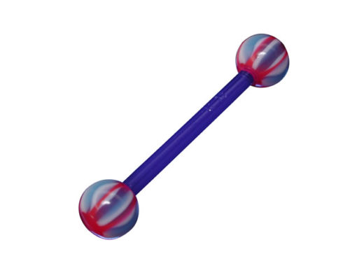 Uv Barbell Flexible Shaft 1.6 X 16 X 5 Blue And Red