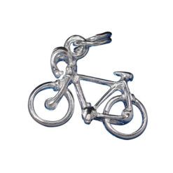 Sterling Silver 12x17mm Bicycle Charm With Split Ring