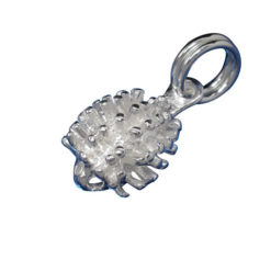 Sterling Silver 10mm Echidna Charm With Split Ring