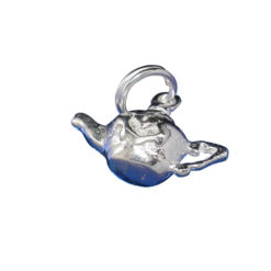 Sterling Silver 8x15mm Teapot Charm With Split Ring