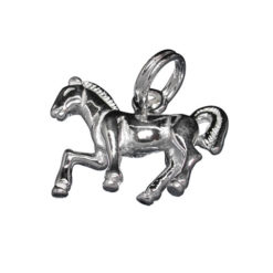 Sterling Silver 16x12mm Horse Charm With Split Ring
