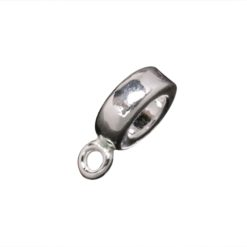 Sterling Silver Charm Connector - Fits On Braclet Or Necklet