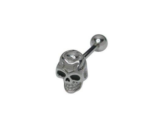 Surgical Steel Skull Barbell 1.6 X16