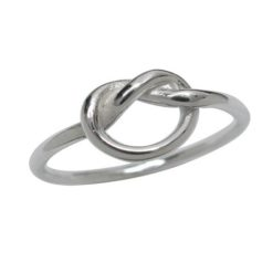 Sterling Silver 1.3mm Love Knot Ring
