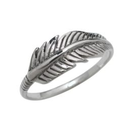 Sterling Silver 7mm Feather Ring
