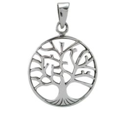 Sterling Silver 26mm Tree Of Life Pendant