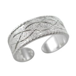 Sterling Silver 6mm Infinity Pattern Toe Ring