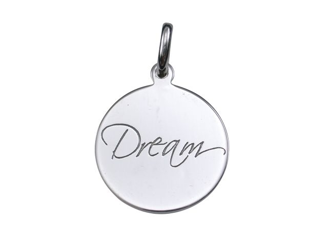 Sterling Silver 16mm *dream* Pendant