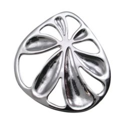 Sterling Silver 25mm Absract Flower Pendant