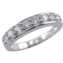 Sterling Silver 4mm White Cubic Zirconia Ring
