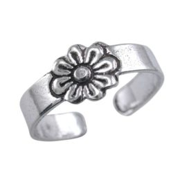 Sterling Silver 7mm Flower Toe Ring