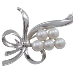 Sterling Silver 60x30mm Freshwater Pearl Brooch