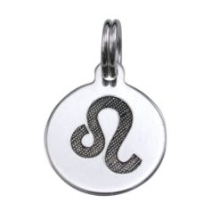 Sterling Silver 12mm Leo Zodiac Charm With Split Ring
