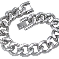 Stainless Steel 13mm Curb Link Bracelet
