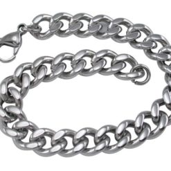 Stainless Steel 8mm Curb Bracelet