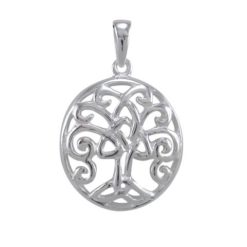 Sterling Silver 19mm Celtic Tree Of Life Pendant