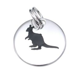 Sterling Silver 15mm Kangaroo Charm With Split Ring