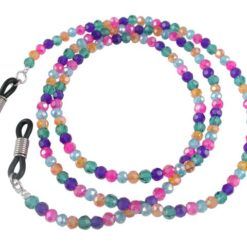 4mm Faceted Multi Colour Swarovski Elements Eye Glasses Necklet 60cm