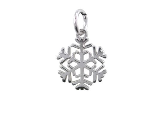 Sterling Silver 12mm Snowflake Pendant