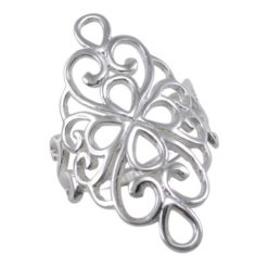 Sterling Silver 30mm Filigree Ring