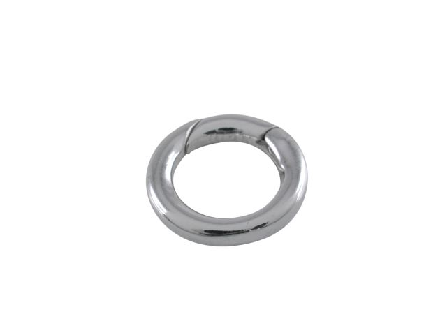 Sterling Silver 12mm Spring Opening Ring. Ideal For Attaching Pendants To Chains Or Bracelets