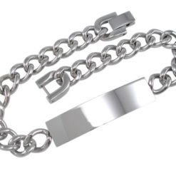 Stainless Steel 10mm Curb Id Bracelet 20.5cm