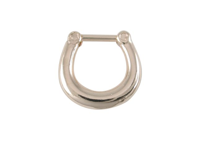 Surgical Steel 316l Gold Ip Septum Hinged Clicker Ring