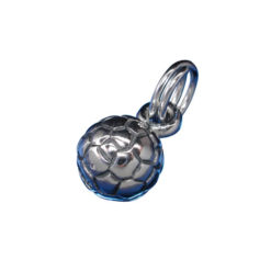 Sterling Silver 7mm Soccer Ball Charm With Split Ring